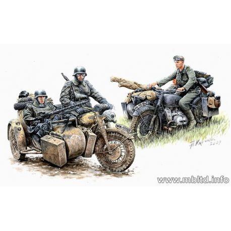 Moto Sidecar Alemana con tripulación
