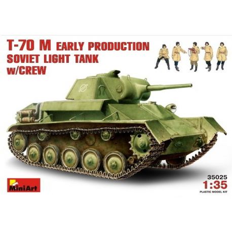 T-70 M EARLY PRODUCTION SOVIET LIGHT TANK + Tripulación