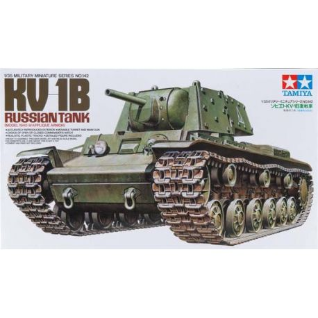Tanque Ruso KV-1B 1940 con apliques de armadura + 1 figura