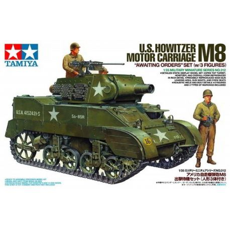 U.S. M8 Howitzer Motor Carriage + 3 Figuras