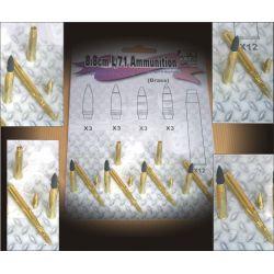 8.8cm L/71 Ammunition (Brass)