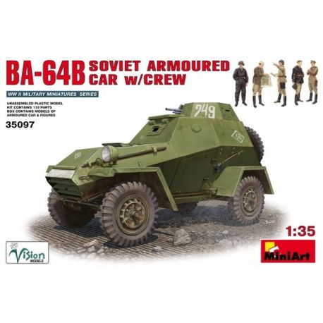 Blindado Soviético BA-64B + Tripulación