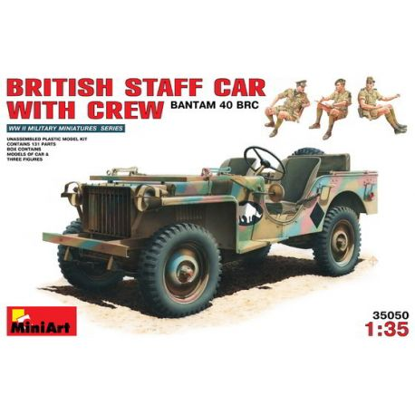 BANTAM 40 BRC British Staff Car With Crew