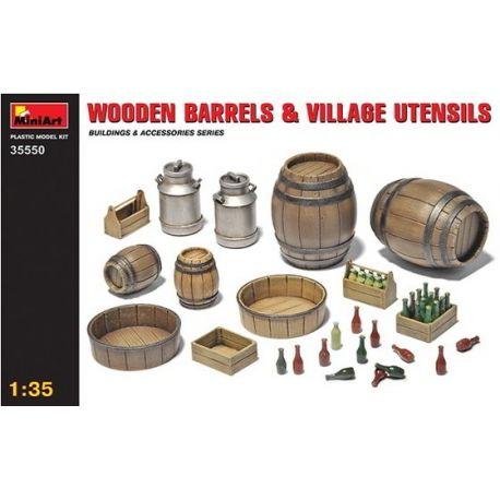 Barriles de madera y Utensilios