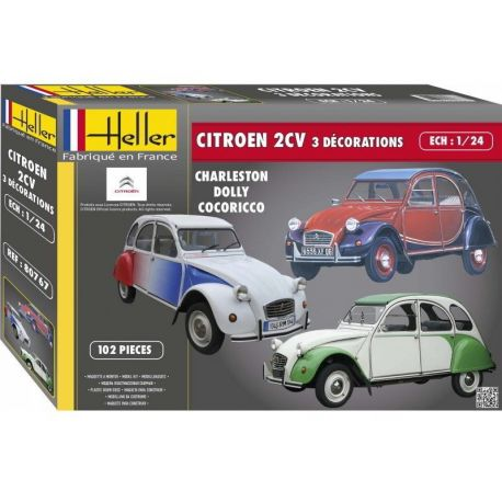 Citroen 2CV - 3 Decoraciones
