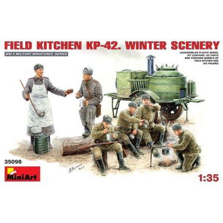 Cocina de Campaña KP-42 y Soldados