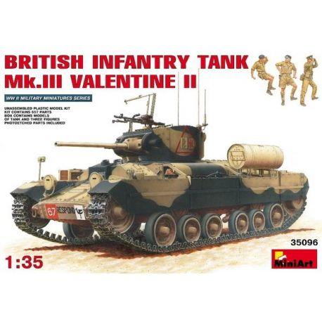 BRITISH INFANTRY TANK Mk.III VALENTINE II + Tripulación