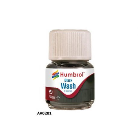 Enamel Washes, (Lavados) Color Negro 28ml