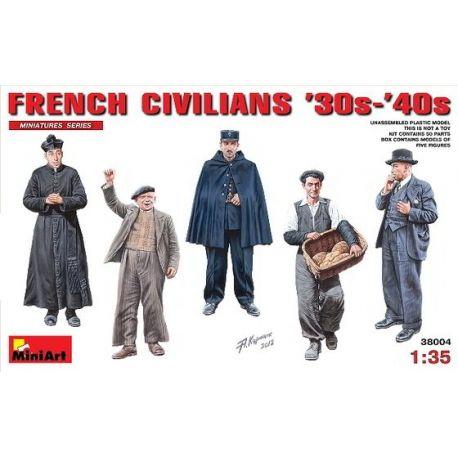 French Civilians `30s-`40s