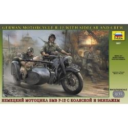 German Motorcycle R-12 with Sidecar and Crew