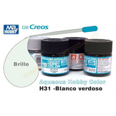H31-Blanco Verdoso Brillo