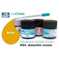 H34-Amarillo Crema Brillo