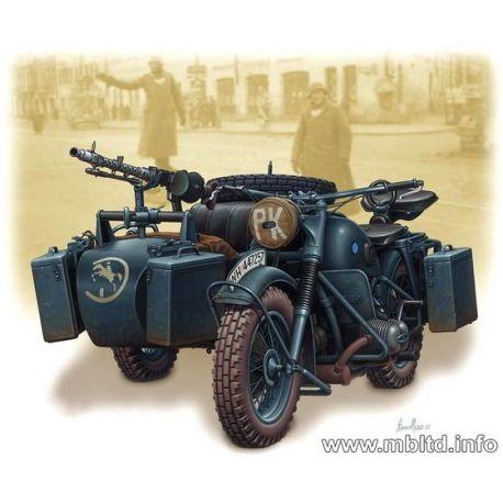 Moto con Sidecar Alemana WWII - BMW R75 con Fotograbados