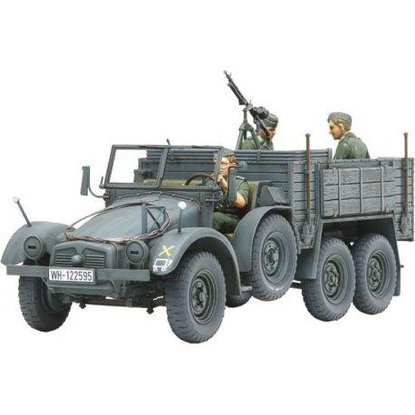 6x4 Truck Krupp Protze (Kfz.70) + 3 Figuras