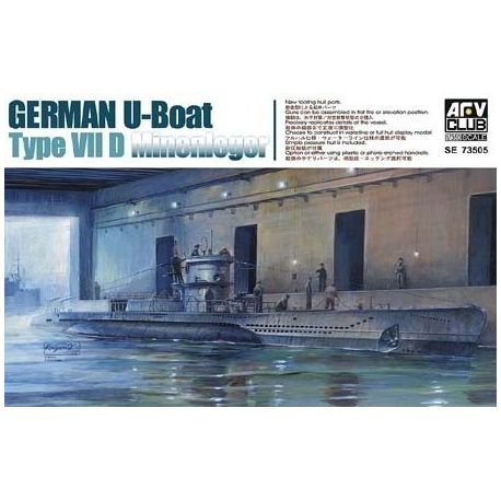 Submarino Aleman U-Boat VII D Minenleger.