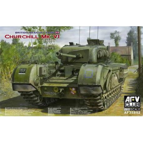 Tanque Churchill MK VI cañón 75mm.
