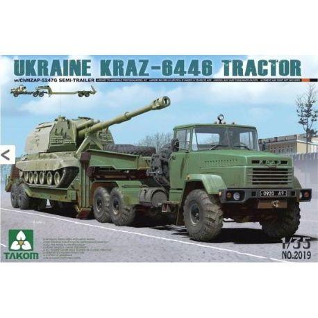 Camión Ucraniano KRAZ-6446 - Tráiler ChMZAP-524G