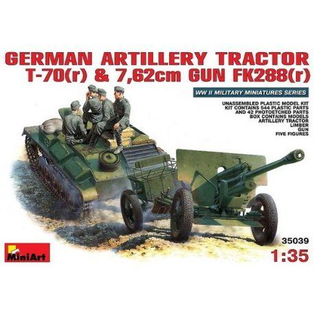 Tractor, Armón, Cañón y Tripulación
