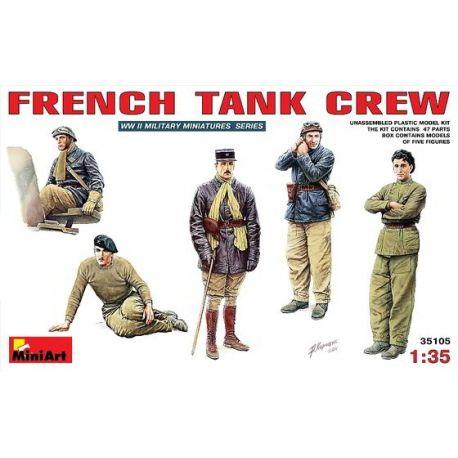 Tripulación Tanquistas Franceses (5 figuras)