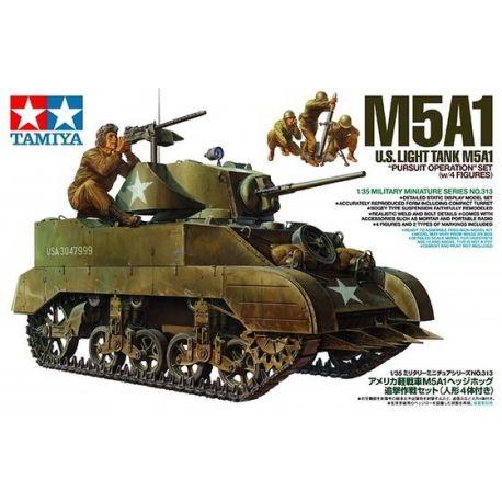 U.S. Light Tank M5A1 + 4 Figuras