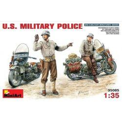 U.S. Policia Militar y Motos Harley Davidson WLA