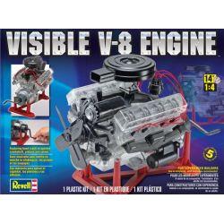 Visible V-8 Engine Plastic Model Kit