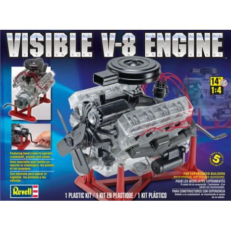 Visible V-8 Engine Plastic Model Kit