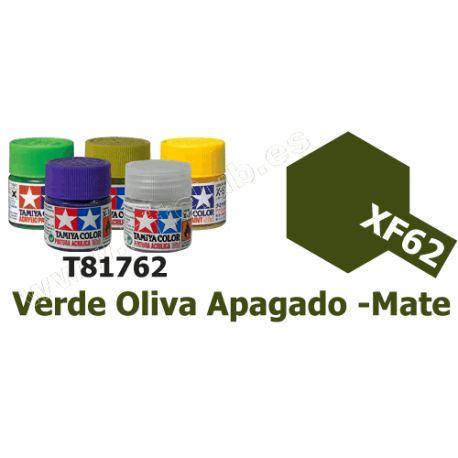 XF-62 Pintura Acrilica Verde Oliva Apagado, Mate