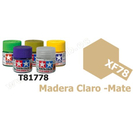 XF-78 Pintura Acrilica Madera Claro, Mate