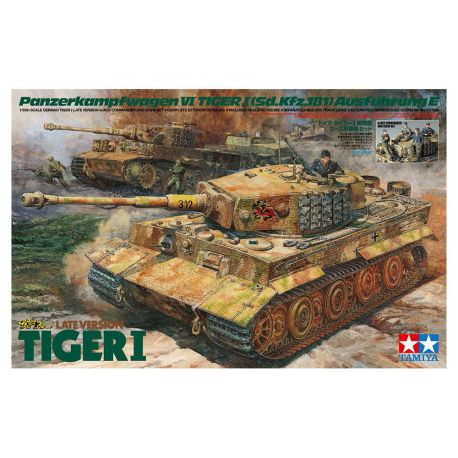 German Tiger I Late Version w/Ace Commander and Crew Set