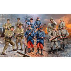 WWI INFANTRY German/British/French- 1914 (12 figuras)