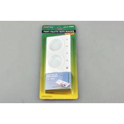 Paleta de pintura 3 recipientes con base soporte