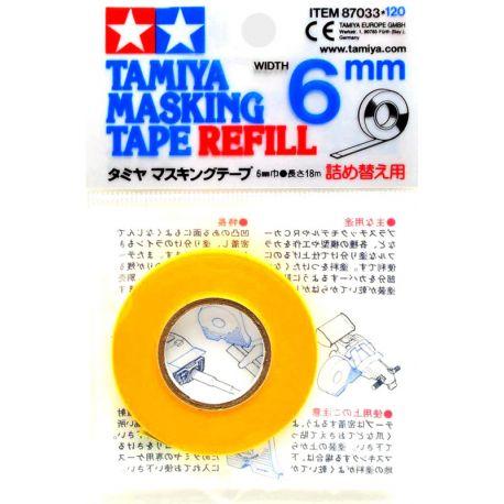 Cinta adhesiva de enmascarar 6 mm - Tamiya