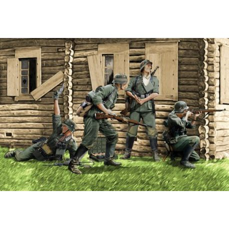 German Infantry, Barbarossa 1941 (4 Figuras)