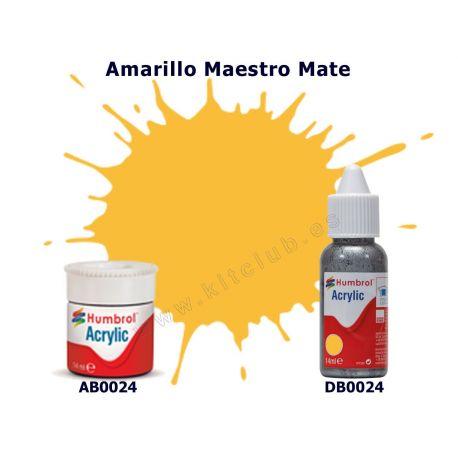 Amarillo maestro Mate - Humbrol 0024