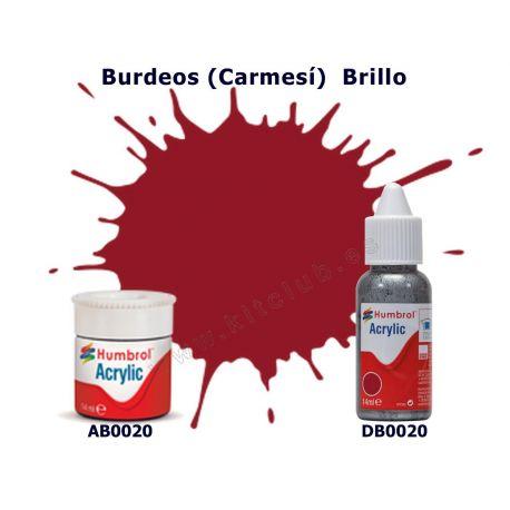 Rojo Burdeos (Carmesí) Brillo - Humbrol 0020