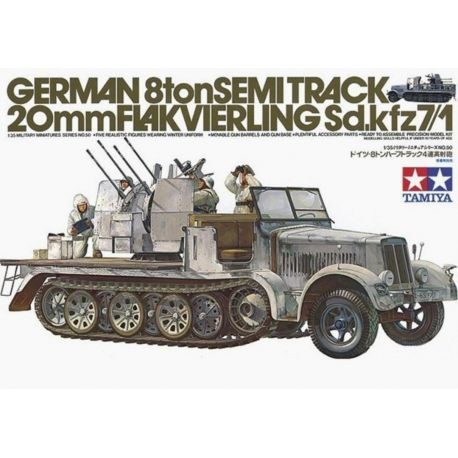 German 8ton Semitrack 20mm Flakvierling Sd.Kfz. 7/1