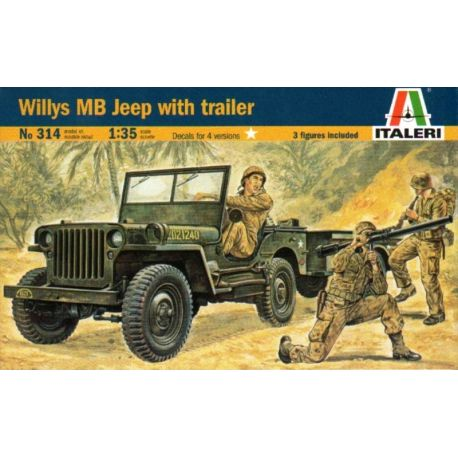 Willys MB Jeep con Remolque