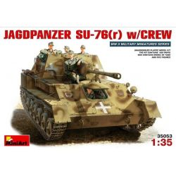 JAGDPANZER SU-76(r) + Tripulación
