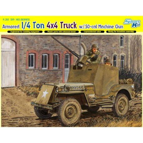 Jeep Blindado con ametralladora