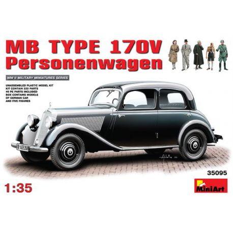 Mercedes Benz 170V + 5 Figuras